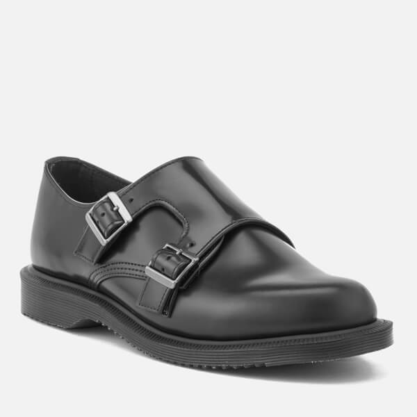 Dr. Martens Women's Kensington Pandora Leather Double Monk Strap Shoes - - UK 7 GUGaYy9AR