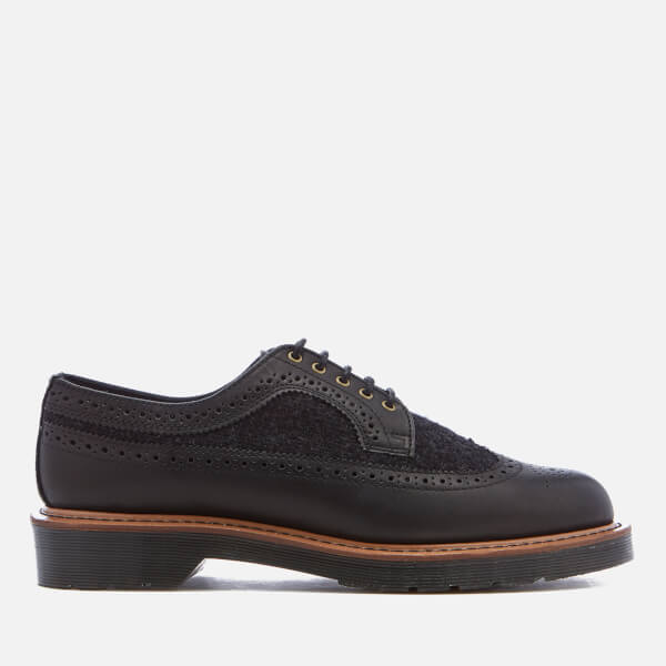 Dr. Martens Men's Core 3989 Leather/Wool Brogues - Black/Dark Grey
