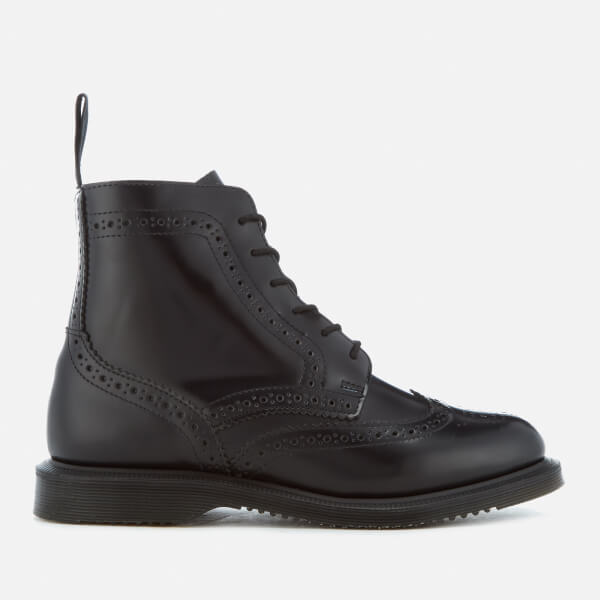 519ec329aba Dr. Martens Women s Kensington Delphine Polished Smooth Lace Up Boots -  Black  Image 1