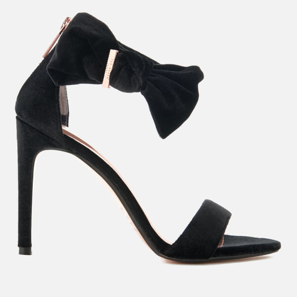 128c5940e Ted Baker Women s Torabel Velvet Barely There Heeled Sandals - Black  Image  1