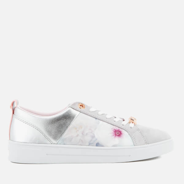dd983e00c Ted Baker Women s Fushar Floral Print Cupsole Trainers - Grey Chelsea