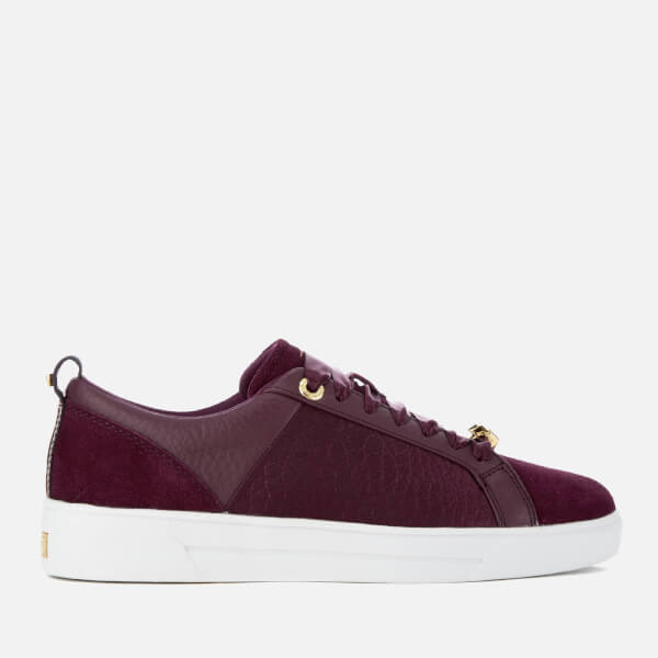 Ted Baker Women's Kulei Leather Cupsole Trainers - Purple