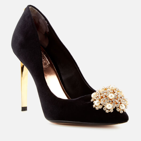 Ted Baker Women's Peetch Velvet Court Shoes - Black