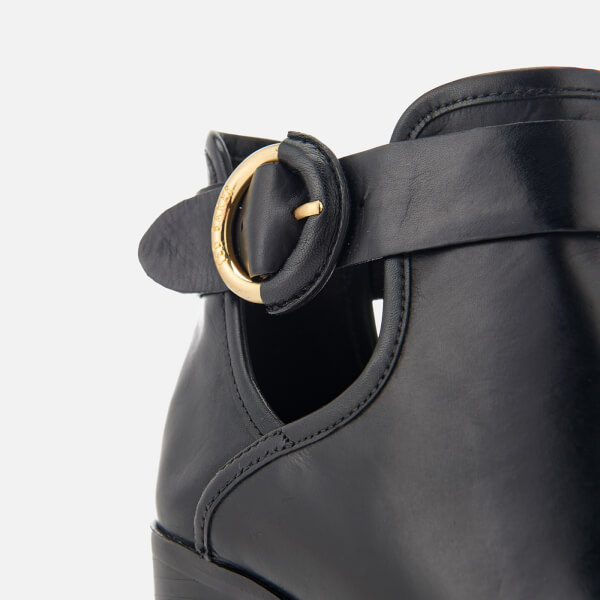 c63221e2aecb65 Ted Baker Women s Sybell Leather Heeled Ankle Boots - Black  Image 6