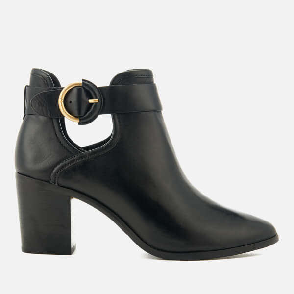 e2c73e57d57e9c Ted Baker Women s Sybell Leather Heeled Ankle Boots - Black