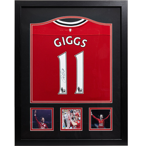 Ryan Giggs Signed and Framed Manchester United Shirt