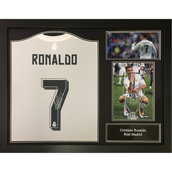 3d1689829 Cristiano Ronaldo 2016 Signed and Framed Real Madrid Shirt  Image 1