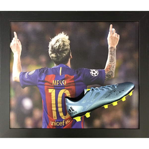 Lionel Messi Signed and Framed Boot with Domed Frame Finish