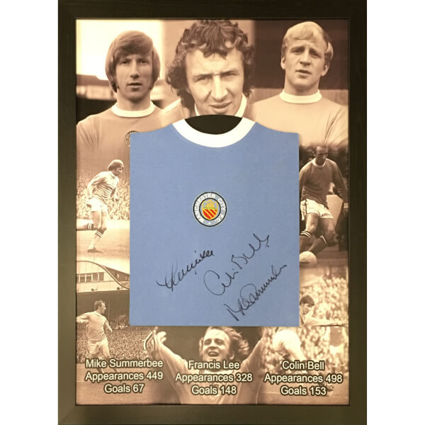 Bell, Lee and Summerbee Signed and Framed Shirt