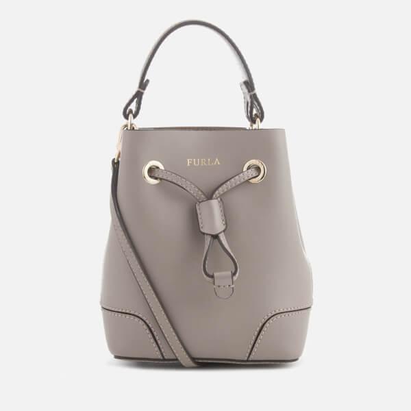 Furla Women S Stacy Mini Drawstring Bag Tan Image 1