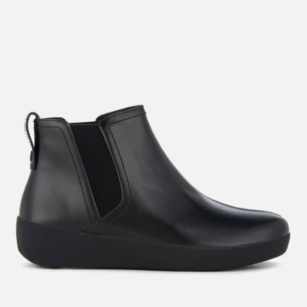 FitFlop Women's Superchelsea Leather Boots - All Black