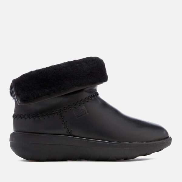 a5d6e9fe0ba FitFlop Women s Mukluk Leather Shorty 2 Boots - Black Womens ...