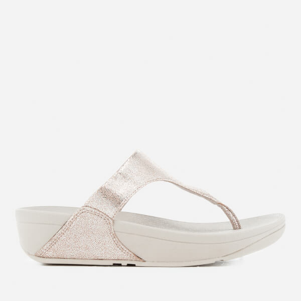 2ee45658982950 FitFlop Women s Shimmy Suede Toe-Post Sandals - Silver Womens ...