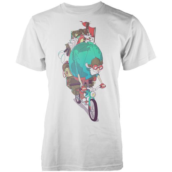 Vo Maria Mr. Traveller Men's White T Shirt