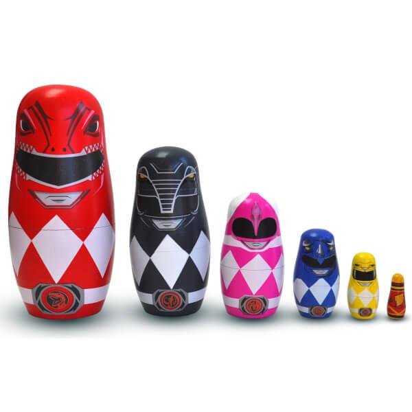 Power Rangers Wooden Nesting Dolls