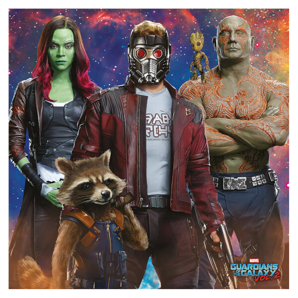 Guardians of the Galaxy Vol. 2 (Galaxy Team) 40 x 40cm Canvas Print