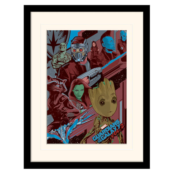 Guardians of the Galaxy Vol. 2 (Galactic) Mounted & Framed 30 x 40cm Print