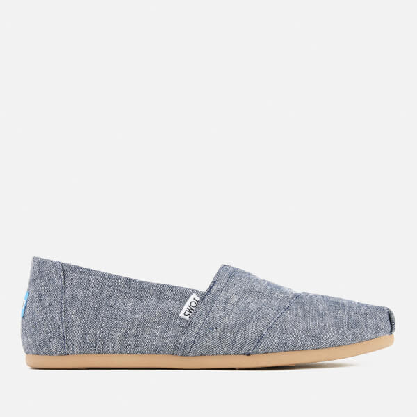 TOMS Men's Seasonal Classic Chambray Slip On Pumps - Navy