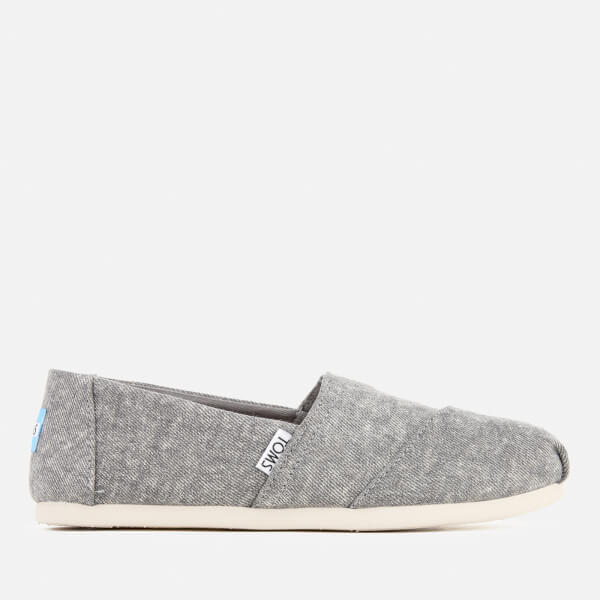 TOMS Women's Seasonal Classic Washed Denim Slip On Pumps - Steel Grey:  Image 1