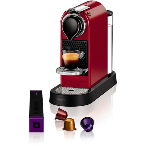 nespresso by krups xn740b40 citiz coffee machine cherry red iwoot. Black Bedroom Furniture Sets. Home Design Ideas