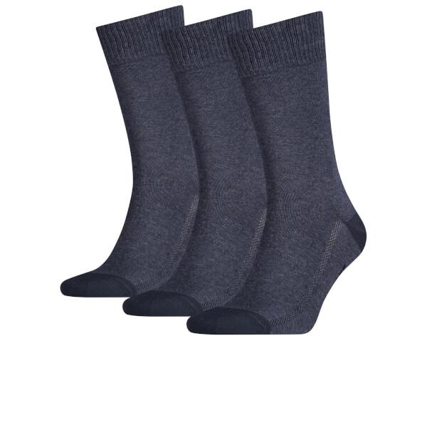 Levi's Men's 3 Pack Crew Socks - Denim