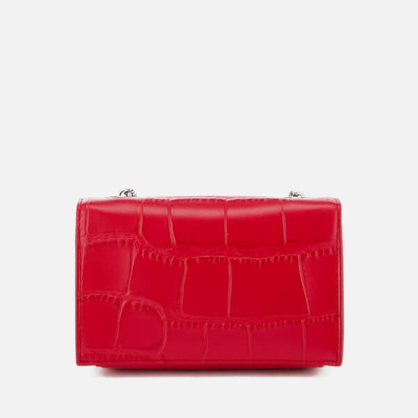 edfb0c295e98 Versus Versace Women s Lion Croc Small Clutch Bag - Red  Image 2