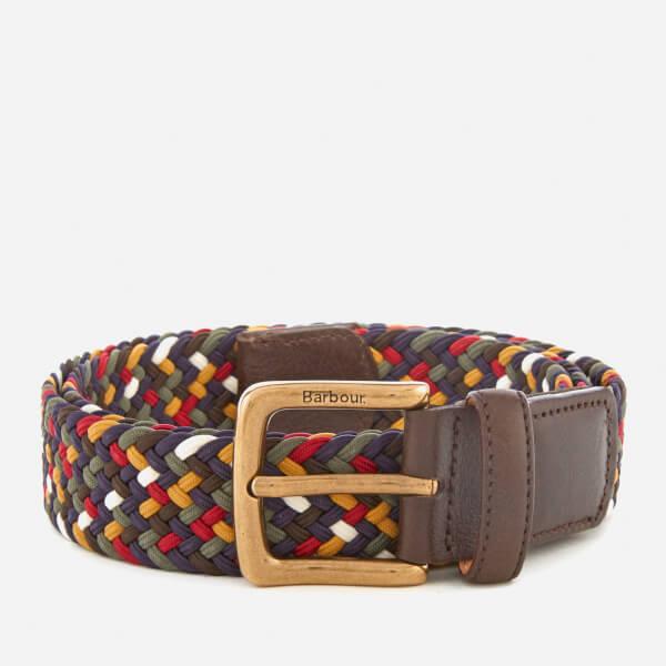 Barbour Men's Tartan Coloured Stretch Belt Gift Box - Classic