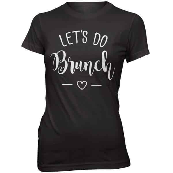 T-Shirt Let's Do Brunch -Noir