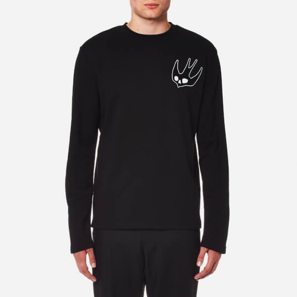 McQ Alexander McQueen Men's Skater Chest Swallow Sweatshirt - Darkest  Black: Image 1