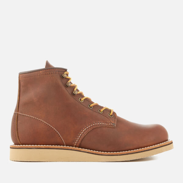 Red Wing Men's Rover 6 Inch Leather Lace Up Boots - Copper - UK 8 JhiNFa3