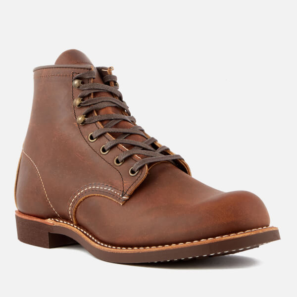 Red Wing Men's Blacksmith 6 Inch Leather Lace Up Boots - Copper - UK 7 FCZJ0TX70