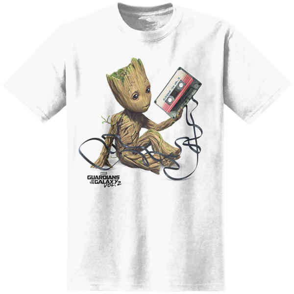 marvel m nner guardians of the galaxy baby groot t shirt. Black Bedroom Furniture Sets. Home Design Ideas
