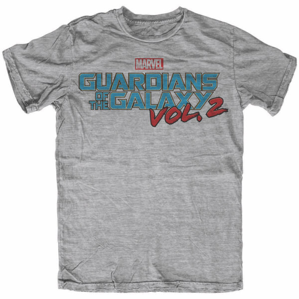 Marvel Men's Guardians of the Galaxy Vol. 2 Logo T-Shirt - Grey