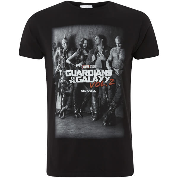 Marvel Men's Guardians of the Galaxy Vol.2 Group T-Shirt - Grey