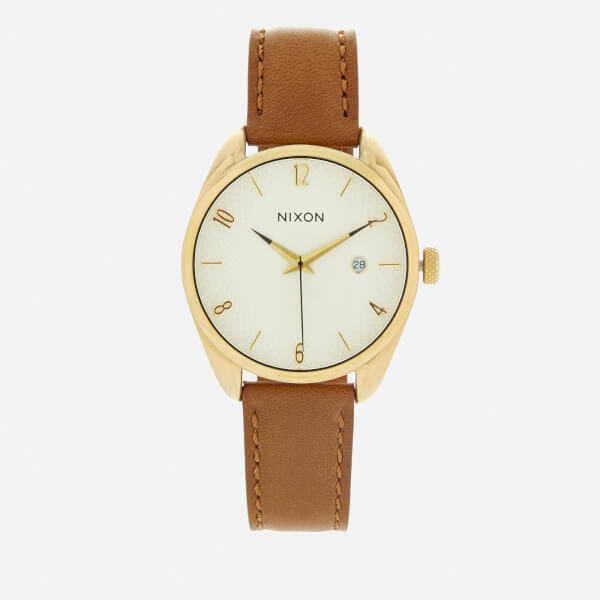 Nixon Women's The Bullet Leather Watch - Gold/Saddle