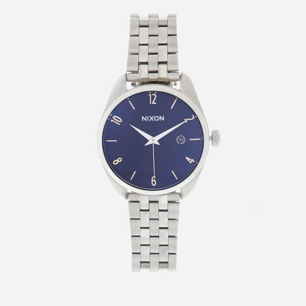 Nixon Women's The Bullet Watch - Silver/Navy/Rose Gold