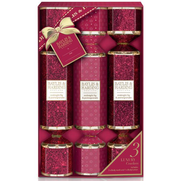 Baylis & Harding Midnight Fig and Pomegranate 3 Cracker Set