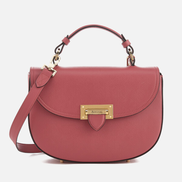 Aspinal of London Women's Letterbox Saddle Bag - Blusher