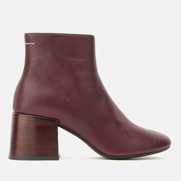 mm6 maison margiela women 39 s heeled ankle boots bordeaux free uk delivery over 50. Black Bedroom Furniture Sets. Home Design Ideas