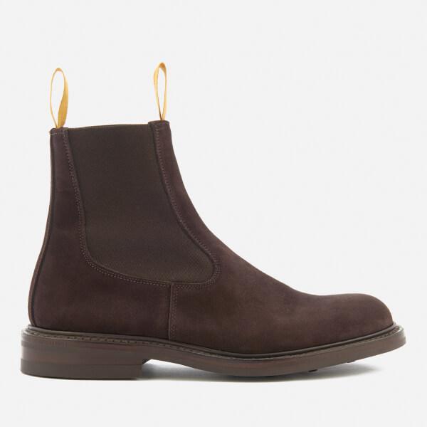 Tricker's Men's Stephen Reversed Suede Chelsea Boots - Coffee