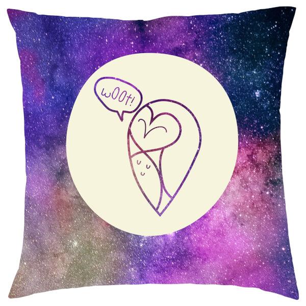 Galaxy Woot Owl Cushion