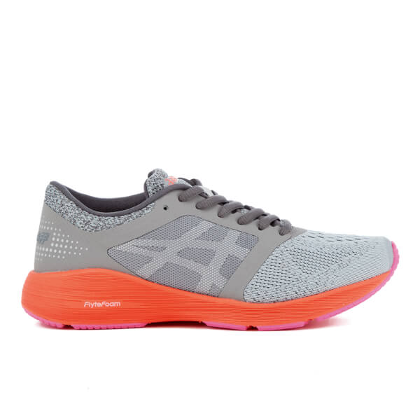 Asics Running Women's Roadhawk FF Trainers - Carbon/Silver/Flash Coral