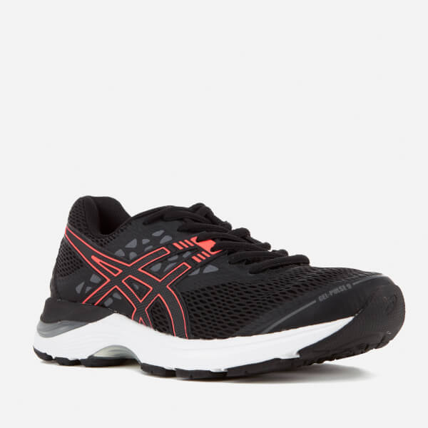 f89e29220afe Asics Running Women s Gel Pulse 9 Trainers - Black Flash Coral Carbon  Image