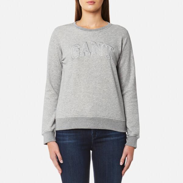 GANT Women's Crew Neck Sweatshirt - Grey Melange