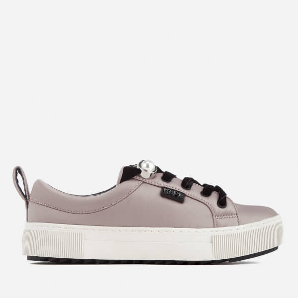 Karl Lagerfeld Women's Luxor Kup Satin Trainers - Light Pink