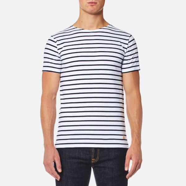 Armor Lux Men's Stripe Lightweight T-Shirt - Blanc Navire