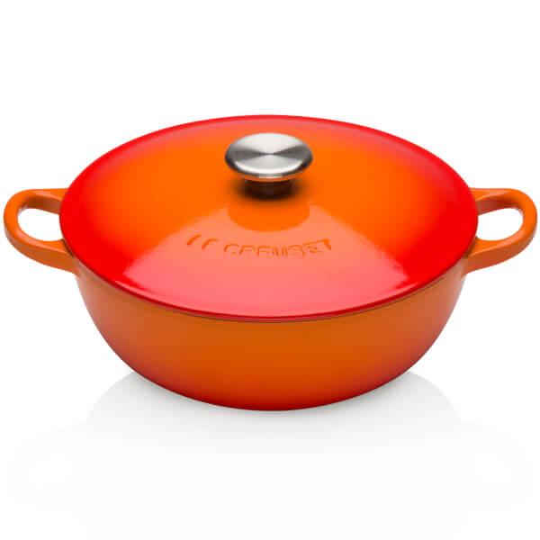 Le Creuset Cast Iron Bouillabaisse Casserole Dish - 22cm - Volcanic