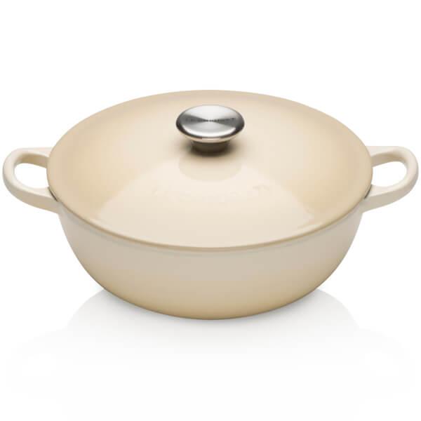 Le Creuset Cast Iron Bouillabaisse Casserole Dish - 22cm - Almond