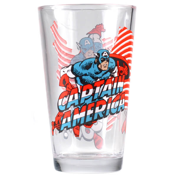 Grand Verre Marvel Captain America dans Boite Cadeau
