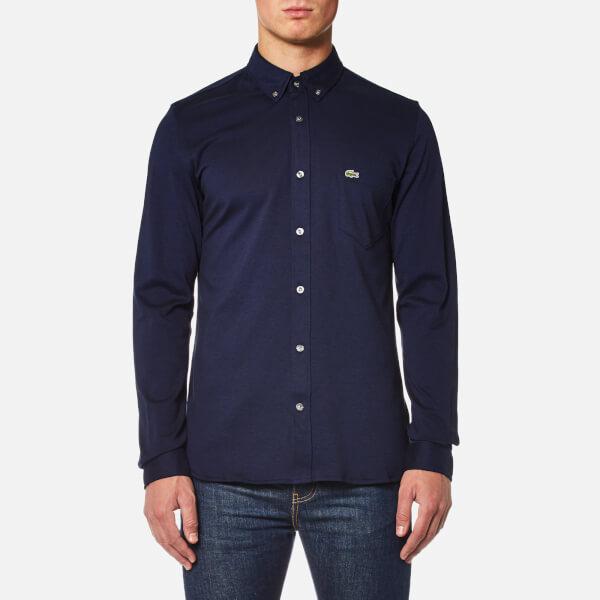 Lacoste Men's Long Sleeve Jersey Shirt - Methylene/Black